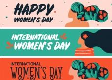三八妇女节创意海报背景设计素材