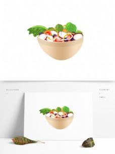 手绘素食美食菜肴系列之蔬果沙拉