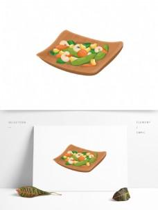 手绘素食美食菜肴系列之什锦蔬菜