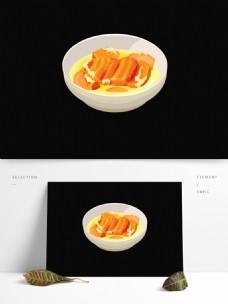 手绘素食美食菜肴系列之蜜汁南瓜