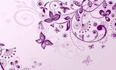 紫色花纹蝴蝶