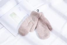 女士绒手套韩版糖果色摄影图30