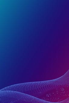 蓝色商务科技世界电信日广告背景