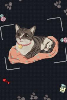 可爱猫猫宠物海报