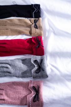 多色日系麂皮绒女士手套1