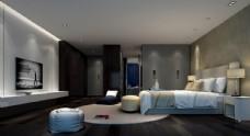 现代简约卧室效果图3D模型