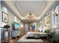 欧式卧室效果图3D模型