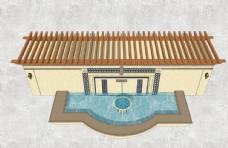 欧式水景墙