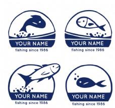 深蓝色鱼类标志