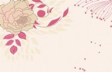 手绘简约花朵电视背景墙