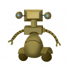 机器人金属风可爱金色类