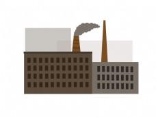 扁平风格工厂插画 png图片