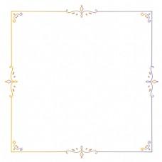 古典花纹边框装饰