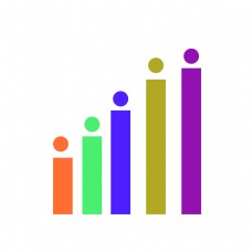 商务矢量数据分析柱状图