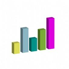 商务矢量数据柱状立体分析图