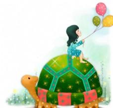 小清新创意卡通儿童创意绘画
