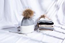 时尚毛球毛线帽针织帽31