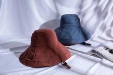 韩版女士大沿遮阳布帽20