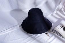 韩版女士大沿遮阳布帽8