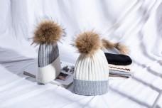 时尚毛球毛线帽针织帽30