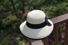 韩版女士蝴蝶结遮阳帽8