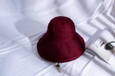 韩版女士大沿遮阳布帽15