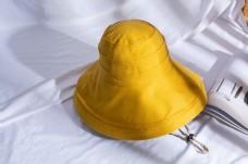 韩版女士大沿遮阳布帽9