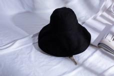韩版女士大沿遮阳布帽11
