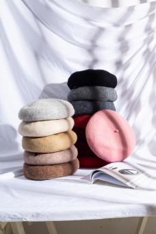 女士优雅贝雷帽日系帽
