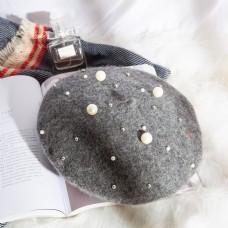 日系帽优雅贝雷帽摄影图34