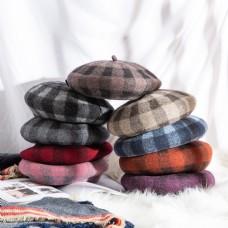 女士日系帽优雅贝雷帽35