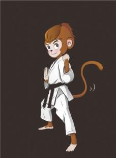 卡通图案   猴子