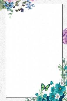 边框白色简约风海报banner背景