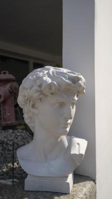 白色雕像商业摄影