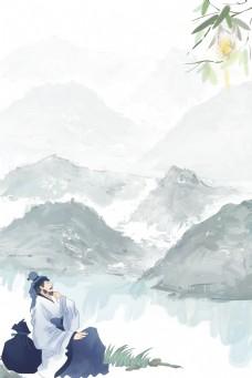 复古风灰色海报banner背景
