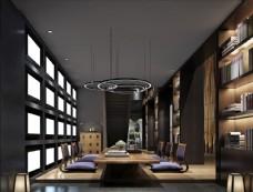 茶室接待室模型效果图