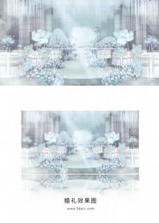 蓝色小鹿婚礼效果图