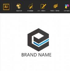 E字母设计企业logo