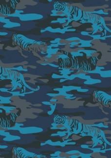 老虎迷彩图案