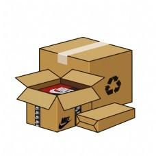 免扣卡通快递包装箱