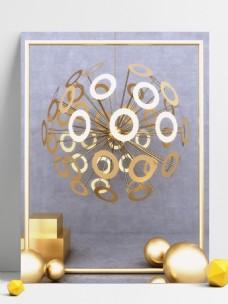 原创写实现代风格金属几何简约3D创意背景