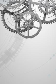 大气齿轮企业文化平面素材