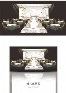 中式白色古风婚礼效果图