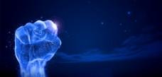 蓝色科技力量人手背景