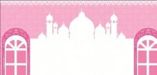 粉色舞台背景 06