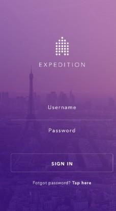 手机APP 紫色 地址 日历