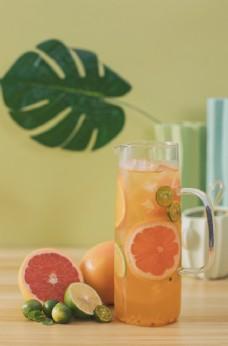 柠檬橙子水果茶