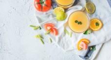 柳橙凤梨汁 橙汁 果汁 饮料
