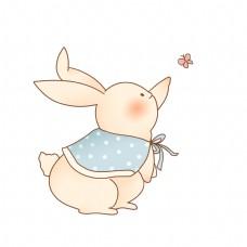 清新可爱拟人化动物小兔子