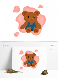 天猫国际玩具节穿牛仔裤的泰迪熊